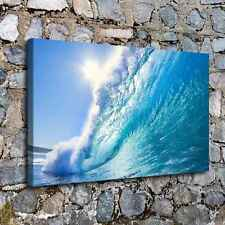 0303-Sea Wave Poster Home Decor HD Canvas Print Picture Room Wall Art Painting