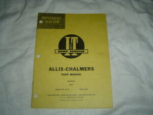 Allis Chalmers D21 D-21 tractor repair service manual