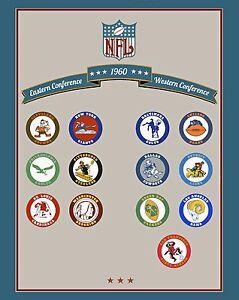 NFL 1960 Team Logo Poster - 8x10 Color Photo