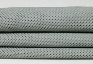 STRETCH GREY TEXTURED soft Italian Lambskin Leather skin hide 4+sqf 0.6mm #A5277