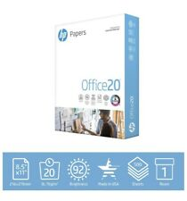 HP Printer Paper 8.5x11 Office 20 lb 1 Ream 500 Sheets 92 Bright FAST SHIPPING