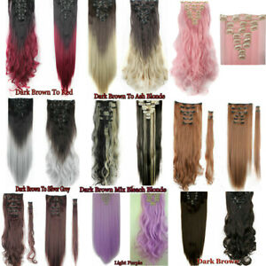 Smooth Clip In Hair Extensions Straight Fashion Natural As Human Hair Extensions