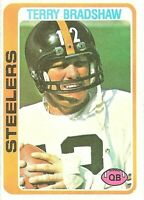 1978 Topps Terry Bradshaw Pittsburgh Steelers #65 Football Card