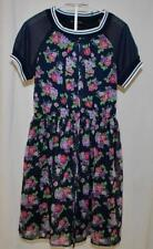 Disorderly Kids CHIC Navy Floral Lined Girls Dress 12 / 14