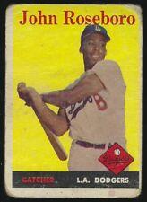 Lot of 9 1958 Topps LA Dodgers 1st Season BB Cards - Newcombe Roseboro Zimmer