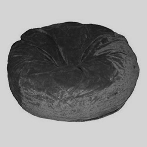 1 PC Velvet Gray Bean Bag Cover Without Beans Comfortable & Washable Home Decor