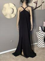 "Dress The Population Size XXL Maxi Black Dress Length 66"""