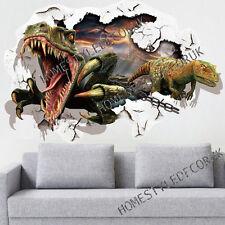 Huge Dinosaur World T-Rex Jurassic Park Wall Crack Stickers Art Decal Kids Mural