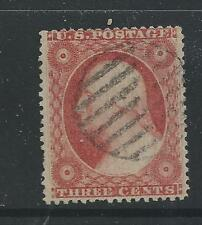 SC 26  7 BAR CANCEL--WELL CENTERED-BROWN CARMINE-#1--49