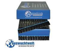 3Kg Klebegewichte Schwarz 50 Stück 12x5 Gramm Auswuchtgewichte verzinkt und Lack