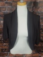 xxi Women's Shrug Sweater Size Small Brown Gold Open Front Made in USA