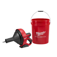 "Milwaukee 2571-20 M12 Drain Snake Kit, 5/16"" x 15' Bulb Cable, Storage Bucket"