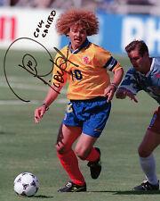 CARLOS velmalama-COLOMBIA-ITALIA'90 & USA'94 - Firmato Autografo RISTAMPA