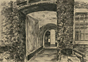 Maurice Sochachewsky (1918-1969) - 1951 Pen and Ink Drawing, Archway Enterance