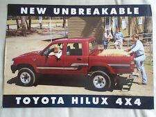 Toyota hilux 4x4 brochure c1993 australiens