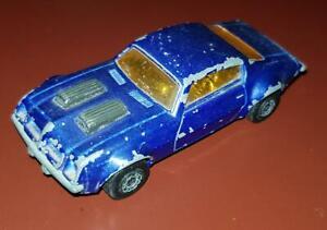 Lesney Matchbox Superfast #4 Pontiac Firebird Inbrima RARE Dull Dark Blue Brazil