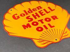 VINTAGE GOLDEN SHELL MOTOR OIL SEASHELL 12