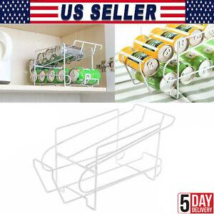 Soda Can Dispenser Food Storage Rack Holder Beverage Organizer for Counter top
