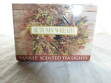 Yankee Candle Autumn Wreath Scented Tea Light Candles Box of 12