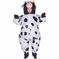 Adult Funny Inflatable Animal Cow Fancy Dress Costume Outfit Suit Halloween Stag