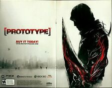 2009 Activision PROTOTYPE Sony  PS3 / XBOX 360 video game two-page print ad