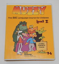 Muzzy French Level I 4-6 Vhs and Cassette Tape