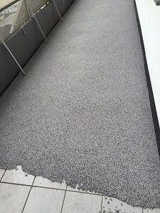 Steinteppich,Set für 2M² Grau,schwarz,weiß 1K PU Bindemittel +0,75kg Grundierung