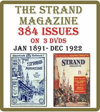 The Strand Magazine 384 Issues (1891-1922) on 3 DVDs - 64 Volumes London Art  K0