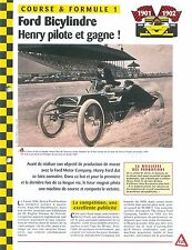 Ford Bicylindre 1901-1902  Course & Formule 1 USA Car Auto FICHE FRANCE