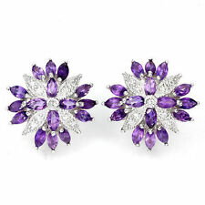 Marquise Cluster Natural Fine Earrings