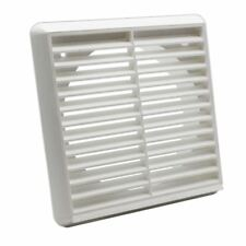 Kair System 150 Louvred Grille Wall Vent 150mm Round Ducting Spigot - White