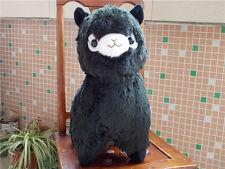 Kawaii Huge Black ALPACA Llama Cute Plush Alpacasso Toy dolls best Gift Handmade
