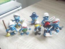 Smurf Smurfs Schlumpf Schtroumpf Set serie PIRATE PIRATES 2014 NEW 8 figures