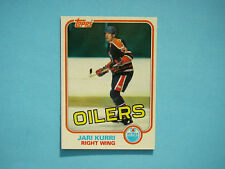 1981/82 TOPPS NHL HOCKEY CARD #18 JARI KURRI ROOKIE NM+ SHARP+ 81/82 TOPPS