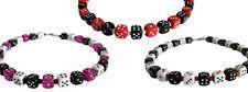 Würfel-Halskette Modeschmuck dice game necklace NEU Handarbeit rot lila schwarz