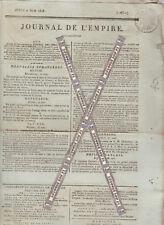 Napoléon Journal de l'Empire du 2 juin 1808.   Coeur du maréchal de Vauban