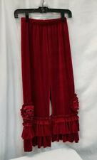 Chasing Fireflies Pixie Girl Red Velvet Ruffle Pants Size 12