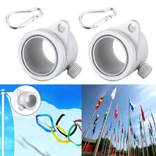 2Pcs Alloy Flag Pole Rotating Rings Clips Anti Wrap Grommet Mounting Tool Rings