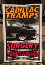 Cadillac Tramps w/ Surgery - Boulder, Co Rare Poster #33/50 Cryptographics