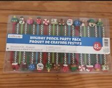New Creatology 48pc Holiday Pencil Party Pack with Erasers