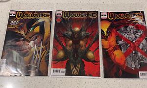Marvel Comics! Wolverine #350 #8 Variant Lot 3 Comic Lot Covers A B C (5/7)