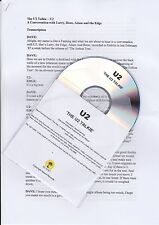 U2 - The U2 Talkie - Rare 12trk promo only interview CD w/ transcript