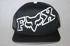 New Fox Riders Co Racing Motocross Trucker Cap Men Mesh Snap Back Black Hat OSFM