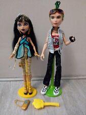 Monster High Cleo De Nile & Deuce Gorgon 1 conjunto de muñecas de onda