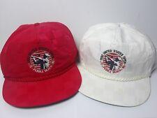 de442b00e58 Set Of 2 VTG 1992 U.S. Open Pebble Beach Red   White Strapback Hats