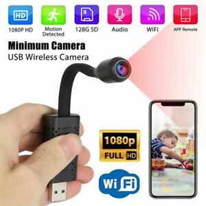 Mini Spy Cam 1080P HD Wifi Camera Hidden Wireless Home Surveillance Security UK