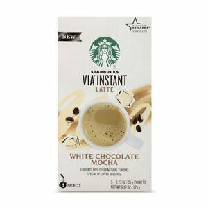 Starbucks VIA Instant White Chocolate Mocha Latte, 5 1.23 Ounce (Pack of 5)