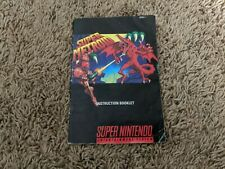 Super Metroid Manual only SNES Super Nintendo