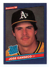 JOSE CANSECO - OAKLAND A'S - 1986 DONRUSS # 39 ROOKIE CARD - NEAR MINT