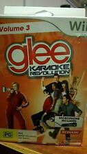 GLEE VOLUME 3 Karaoke Revolution with Microphone BRAND NEW NINTENDO WII